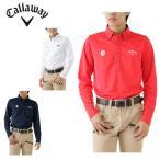 キャロウェイ Callaway ゴルフ ポロシャツ メンズ キリン柄レギュラー長袖 ボタンダウン シャツ 241-6256503