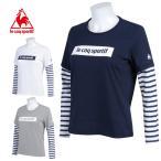 【クリアランス】 ルコック le coq sportif スポーツウェア Tシャツ カットソー レディース レイヤード長袖シャツ 16FW QB-115563
