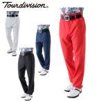 ツアーディビジョン Tour division ゴルフウェア ロングパンツ メンズ 二重織テーパードパンツ TD220107G01