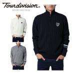 ツアーディビジョン Tour division  ゴルフウェア メンズ ハーフジップセーター TD220204G02
