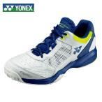 ヨネックス テニスシューズ オールコート メンズ レディース パワークッション203 SHT203-100 YONEX ホワイト/ネイビー