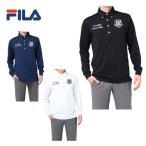 フィラ FILA  ゴルフウェア ポロシャツ メンズ ジャガード無地長袖ポロ  787-561