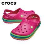 クロックス crocs サンダル メンズ レディース crocband rainbow band clog クロックバンド レインボー バンド クロッグ 205212-6X0