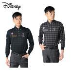 ディズニー Disney ゴルフウェア ポロシャツ 長袖 メンズ チェックJQ 8432-1834