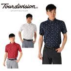 ツアーディビジョン Tour division  ゴルフウェア ポロシャツ 半袖 メンズ 飛び柄 TD220101I01