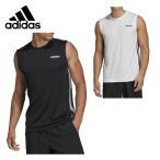 アディダス スポーツウェア ノースリーブ メンズ スリーブレス3ストライプスTシャツ FSF39 a...