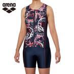 アリーナ フィットネス水着 セパレート レディース 大きめカラースナップ付きセパレーツ 差し込みフィットパッド FLA-9939W-PNK arena