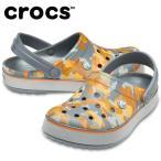 クロックス クロックサンダル メンズ レディース クロックバンド プリンテッド クロッグ Crocband Printed Clog 205834-02Q crocs