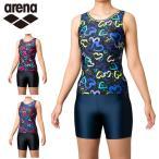 アリーナ arena フィットネス水着 セパレート レディース 大きめカラースナップ付きセパレーツ 差し込みフィットパッド FLA-0950W