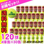 ダンロップ DUNLOP 硬式テニスボール セントジェームス 1箱120球 4球×30缶 STJAMESE4CS120【TBST】