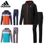 アディダス adidas トレーニングウェア 上下セット メンズ ESS フードクロスジャケット+ESS クロスロングパンツ DJP92+DJP90