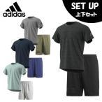 アディダス 半袖Tシャツ ハーフパンツ セット メンズ M4T COOLメッシュスポーツウェア+ M4T カラーブロックウーブンパンツ EUC88 + EAU74 adidas