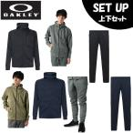 オークリー スポーツウェア スウェット 上下セット メンズ Enhance Grid Fleece Jacket 10.7+フリースパンツ FOA401412+FOA401420 OAKLEY