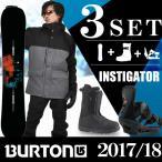 バートン BURTON スノーボード 3点セット メンズ INSTIGATOR+FREESTYLE MATTE BK+MOTO AF BK ボード+ビンディング+ブーツ