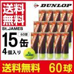 ダンロップ DUNLOP テニスボール セントジェームス 1箱 60球 4球×15缶セット STJAMESI4DOZ