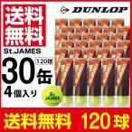 ダンロップ DUNLOP 硬式テニスボール セントジェームス120球 4球×30缶セット STJAMESI4DOZ 硬式テニスボール