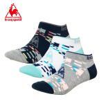 Regular Socks - ルコック le coq sportif 3足組ソックス レディース3Pアンクルソックス QMCLJB01 run