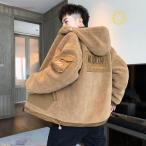 中綿コート メンズ 冬 アウター 厚手 中綿ジャケット ダウン風コート パーカー フード付き ジャンパー 暖かい 防寒 大きいサイズ おしゃれ   紳士 新品