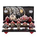 雛人形 三五 10人飾 五人囃子 十人 三段『和楽』送料無料