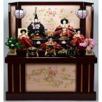 雛人形 【収納飾り】 ひな人形 「花梨五人」収納飾り