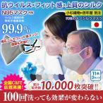 小杉織物 マスク 日本製 N95 絹 洗えるマスク シルクマスク 絹マスク 抗菌 抗ウイルス 大きめ 小さめ メンズ 女性用