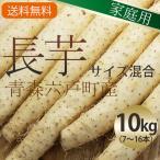 (常温)青森六戸産長芋(長いも ながいも)【家庭用】サイズ混合約10kg(8〜16本)【送料無料】