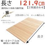 幅 60 〜 75cm X 長さ 113.5  〜 120.5 cm X 厚み 1.1cm -雅- 天然木曽檜ロール風呂蓋 通常版  幅長さ選択技あり 受注生産品