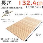 幅 60 〜 75cm X 長さ 124 〜 131 cm X 厚み 1.1cm -雅- 天然木曽檜ロール風呂蓋 通常版  幅長さ選択技あり 受注生産品