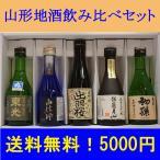 日本酒 山形地酒 飲み比べセット 送料無料 300ML5