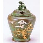 彫金の香炉/夏目型香炉 鶴彫金 高岡銅器の香炉/桐箱付