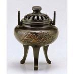 高岡銅器の香炉/菊蓋山水香炉 桐箱付/送料無料
