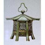 神社仏閣の燈籠/六角春日吊燈籠一対(中) 高岡銅器の神仏具/美術工芸通販