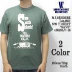 """WAREHOUSE(ウエアハウス) Lot.4601 半袖Tシャツ """"SAVE"""" 4601SAV-16"""
