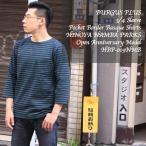 BURGUS PLUS(バーガスプラス) 7分袖 ポケットボーダーバスクシャツ ヒノヤ なんば オープン記念モデル HBP-019NMB