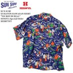 """SUN SURF(サンサーフ) 半袖 レーヨン ハワイアンシャツ """"TOURIST BUREAU"""" ヒノヤ別注モデル SS33877HY"""