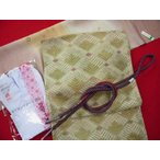西陣織 正絹全通おしゃれ袋帯 帯〆・帯揚・足袋 菱格子(福袋企画品)