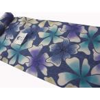 竺仙浴衣(ちくせん)綿紬本染浴衣 ハナミズキ29-415 綿つむぎ浴衣反物