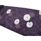 浴衣反物 菊撫子 紫 教材用 日本製