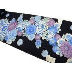 浴衣反物 菊 濃紺 教材用 日本製