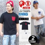 ネスタブランド Tシャツ NESTA BRAND 半袖 メンズ バンダナ柄ポケット ペイズリー ポケTEE