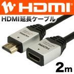 HORIC HDMI延長ケーブル 2m シルバー HDFM20-037SV