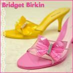 ショッピングエナメル Bridget Birkin ブリジットバーキン キラキラ☆ラインストーンが華やかなバタフライモチーフのセクシーミュール
