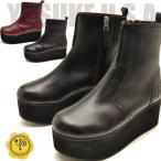 ショッピング厚底 厚底ブーツ ショート レディース 本革 YOSUKE ヨースケ 靴