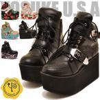 YOSUKE U.S.A ヨースケ 厚底 スニーカー プラットフォーム 厚底ブーツ レディーズ 靴