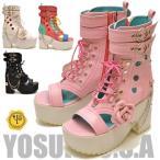 ショッピングブーツサンダル YOSUKE U.S.A ヨースケ  厚底 サンダル 厚底ブーツサンダル ゴスロリ コスプレ レディース 靴