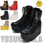 YOSUKE U.S.A ヨースケ 厚底ブーツ編み上げブーツ プラットフォーム レースアップ ショート ゴスロリ ※(予約)とあるものは3営業日内に発送