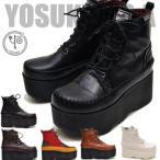 YOSUKE ヨースケ 靴 厚底レースアップブーツ ショート レディース