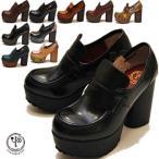 予約販売 YOSUKE ヨースケ 靴 厚底パンプス ローファーパンプス 厚底ローファー
