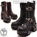 YOSUKE U.S.A ヨースケ メンズ ブーツ 厚底ブーツ  レースアップブーツ カジュアルブーツ ワークブーツ ミドルブーツ