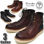 YOSUKE U.S.A ヨースケ メンズ ブーツ 工場出しメンズリミテッドモデル キルト付き カントリーブーツ ワークブーツ ショートブーツ メンズ 靴